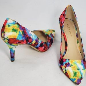 Bcbgeneration Watercolor Flower Heels